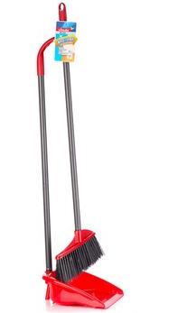 微力达 清洁用品 除尘不粘毛发 耐用型扫把耐用簸箕 套装
